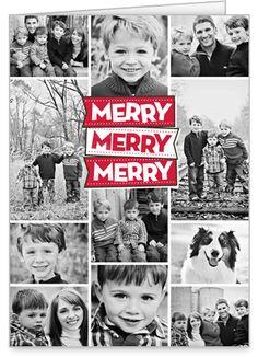 Shutterfly Merry Merry Merry Christmas Card