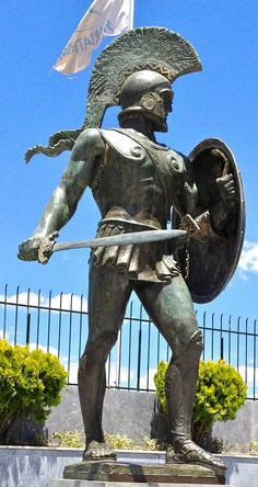 "I'd like to get a tattoo of this Leonidas statue also with the words ""Come and get them"" in Greek, which are also on the statue's pedestal; this is what the 300 Spartans said at the beginning of the battle, when the Persians ordered them to give up their weapons."