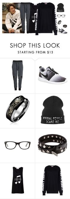 """""""Training with Vernon"""" by abbysm17es ❤ liked on Polyvore featuring H&M, NIKE, CO, Ray-Ban, Replay and MSGM"""