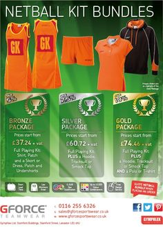 GFORCE Netball Kit bundles