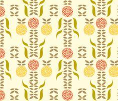 dahlia_white fabric - kitchen shade