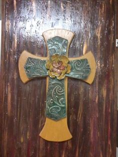 hand painted cross canvas sold