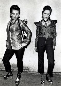 David Bowie fans outside Earls Court, London, 1973.