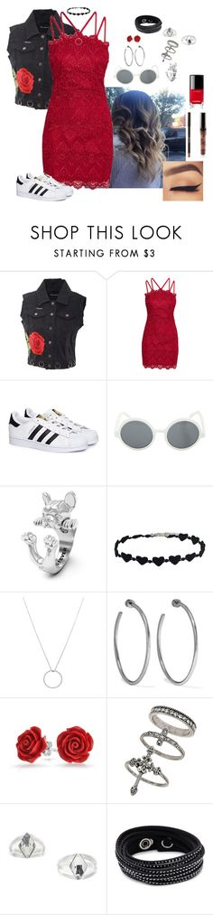 """ellie ~ good girls go bad"" by zoemund ❤ liked on Polyvore featuring Numero00, adidas, Dog Fever, Roberto Coin, Jennifer Fisher, Bling Jewelry, Miss Selfridge, Swarovski and Chanel"