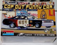 """Monogram's """"Cop Out"""" Funny Car Dodge Duster NIB Great Holiday gift scale 1969 Chevy Chevelle, 67 Pontiac Gto, 1957 Chevy Bel Air, Dodge Duster, Plymouth Duster, 1969 Dodge Charger Daytona, Cop Out, Monogram Models, Model Cars Kits"""