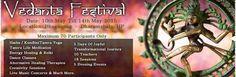Location: Kangra - Buddha Hall Upper Bhagsunag, Dharamshala - Himachal Pradesh Dates: 10th – 14th May, 2015  Hatha – Kundlini Tantra Yoga – Tantra Life Meditation – Reiki – Dance Classes – Alternative Healing Therapies – Creativity Sessions – Live Music Concerts & Much More.   Vedanta Festival 2015 Dharamshala, Himachal Pradesh | Buy Event Online Tickets on Kyazoonga.  http://www.kyazoonga.com/Events/vedanta-festival-2015/1221/1