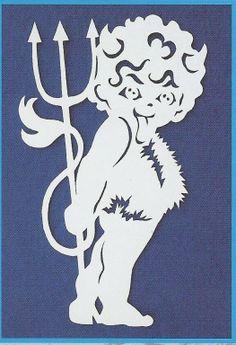 vystřihovánky čert - Hledat Googlem Kirigami, Scroll Pattern, Scroll Saw Patterns, Christmas Paper Crafts, Christmas Deco, Origami Videos, Stencil Patterns, Quilling Cards, Hobbies And Crafts