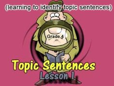 """Grade Topic Sentence """"mini"""" lesson teaches five different options for topic sentence writers in fourth grade. After the lesson, students actively respond . Writing Traits, Paragraph Writing, Writing Strategies, Writing Lessons, Writing Resources, Teaching Writing, Fourth Grade Writing, Small Group Reading, Topic Sentences"""