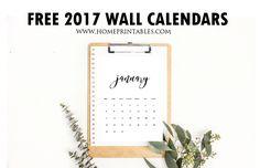 Free Wall Calendars 2017 Printable: Minimalist Style! - Home Printables