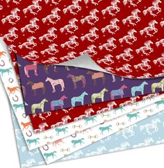 Horse Themed Gift Wrapping Paper - The Painting Pony