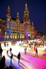 ice skating in Vienna
