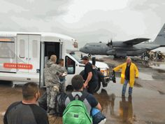 Hurricane Harvey flood victims evacuated at Scholes International Airport, Galveston, Texas. via Guidry News / photos Mihovil Photography