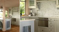 green marble tile backsplash | personally love that tile but would be more likely to use it in my ...