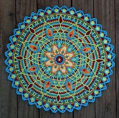 Ravelry: Crochet Overlay Mandala No. 5, Pattern, PDF pattern by CAROcreated design