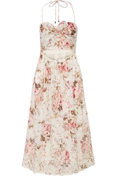 ZIMMERMANN Eden cutout broderie anglaise-trimmed printed cotton dress  $530.00 https://www.net-a-porter.com/product/714339