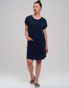 Casual Tencel Jerseykleid   Kleider & Röcke   Bekleidung   Frauen   muso koroni Koroni, Dresses For Work, Shirts, Shirt Dress, Casual, Products, Fashion, Sweat Pants, Dress Skirt
