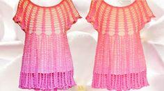 Haz crea teje fácil rápido blusa sin coser en una pieza -  Make quick an...