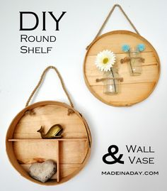 Round Shelf and Wall