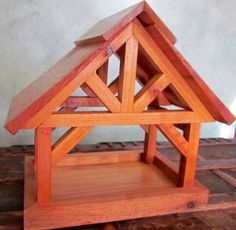 Wood Bird Feeder's Open Style by CountrysideThreads on Etsy, $45.00