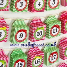 Free printable Christmas Advent Calendar mini boxes garland. | Flickr - Photo Sharing!