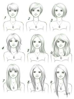 A superb look at Hairstyle lengths #art #drawing