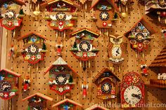 Swiss cuckoo clocks by nelvana of the northern lights, via Flickr