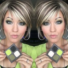 Platinum Blonde Hairstyles Long Platinum Blonde Hairstyles Long is part of Blonde Hair Color Shades Best Ideas For Love this green eyeshadow look - Short Hair With Layers, Short Hair Cuts, Short Hair Styles, Green Eyeshadow Look, Eyeshadow Looks, Blonde Hair Colour Shades, Bob Hairstyles, Layered Hairstyles, Haircuts