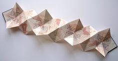 book & origami- star book