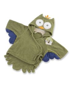 Loving this Baby Aspen Green Night Owl Robe on #zulily! #zulilyfinds