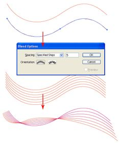 Illustrator Trick #9: Colorful Waves   Vector Diary