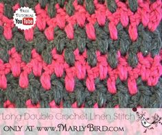 long double crochet linen stitch pattern - howto Crochet: 45+ Crochet Tutorials for Basics, Advanced Stitches