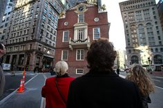 Walking past the Old State House