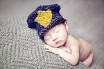 police hat newborn photography