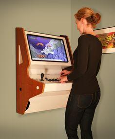 Arcade Game Room, Retro Arcade Games, Arcade Game Machines, Arcade Machine, Arcade Fire, Bartop Arcade Plans, Arcade Cabinet Plans, Mame Cabinet, Nerd Decor