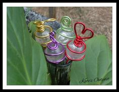 Garden Wire Decor Stakes - pinned by pin4etsy.com