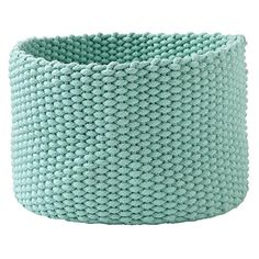 Shop Kneatly Knit Large Rope Bins.  While the idea of a silent K may be difficult to get a hold of, these 100% cotton bins have no trouble holding anything from toys to desk accessories.