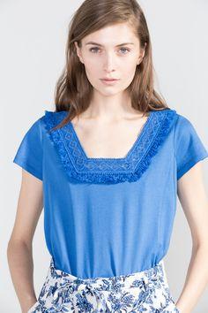 Cortefiel - Camiseta flecos
