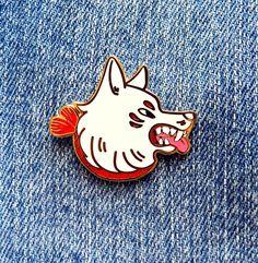 Kitsune Pin via Dliok. Click on the image to see more!