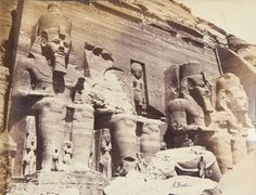 ABU SIMBEL, Temples of Rameses II, 1860-82 Antonio Beato