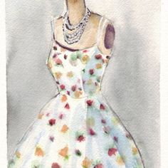 Summer dress in fall 8x10