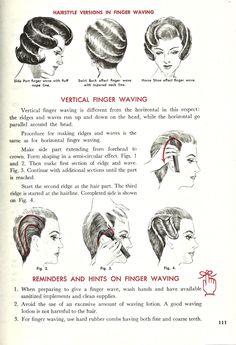 Vintage Finger Wave Instructions Tutorial