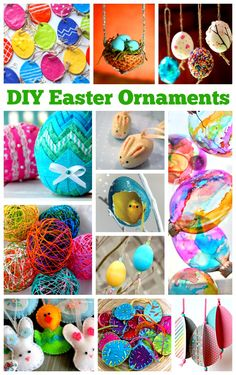 DIY Easter Ornaments More ideas follow me at www.pinterest.com/inspireandmake