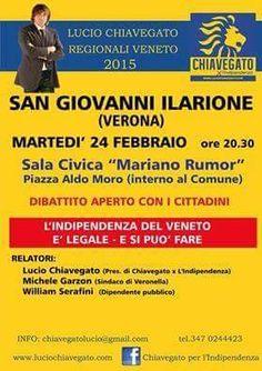 L'INDIPENDENZA DI SAN MARCO: MARTEDI' 24-2-2015 INCONTRO CON CHIAVEGATO PER L'I...
