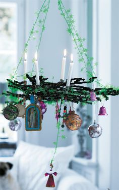 Use with Easter eggs --Advent wreath