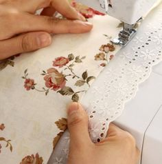 cotton eyelet lace 1yard width 76cm unbleached by cottonholic, $4.80