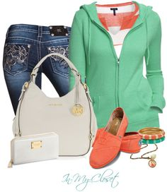 """Michael Kors Vanilla Leather Tote"" by in-my-closet on Polyvore"