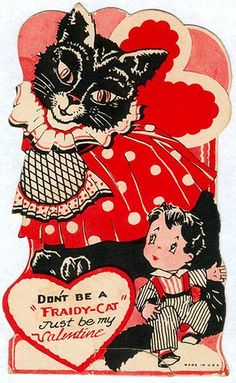 "Don't be a ""Fraidy-Cat"" Just be my Valentine! #valentine #card #cat"