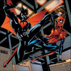 a way cool marvel/dc clash i would kill to these to meet in a show i say spidergirls is gonna win but terry does have future stuff you can choose the ou. spidergirl vs batman beyond Batman Beyond Cosplay, Batman Beyond Suit, Batman Beyond Terry, Comic Book Artists, Comic Book Characters, Comic Character, Spider Girl, Gi Joe, Marvel Universe