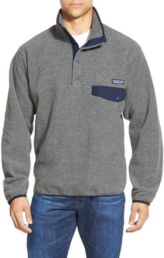 Men's Patagonia Synchilla Snap-T Fleece Pullover, Size Small - Grey Mens Patagonia Fleece, Patagonia Synchilla, Mens Fleece, Patagonia Outfit, Patagonia Clothing, Casual Skirt Outfits, Sweatshirts, Southern Marsh, Southern Tide