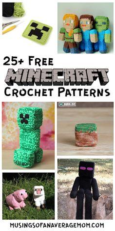 More than 25 Free Minecraft Crochet Patterns Minecraft Crochet Patterns, Minecraft Pattern, Pokemon Crochet Pattern, Plush Pattern, Free Pattern, Minion Pattern, Mario Crochet, Crochet Toys, Knit Crochet